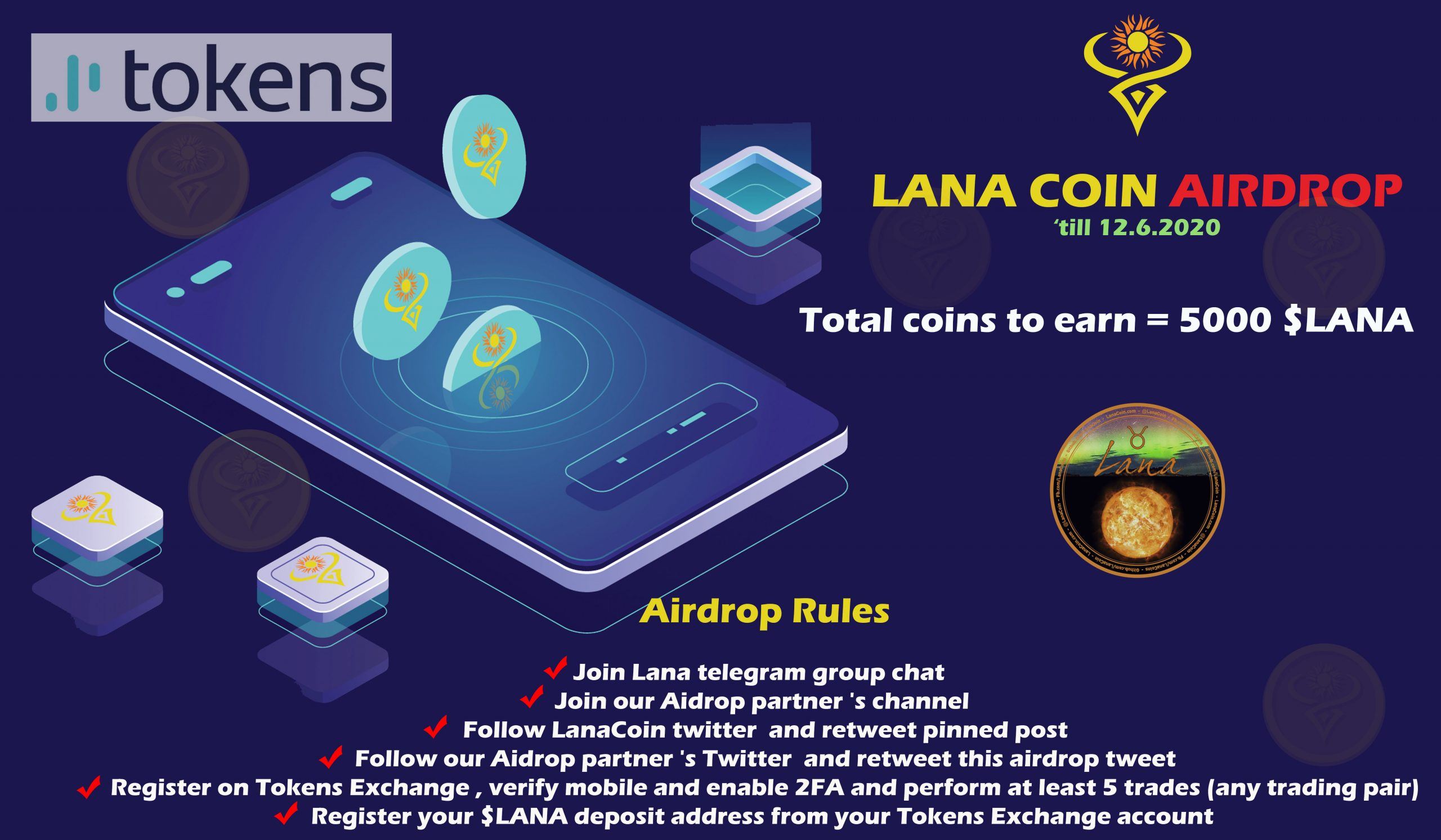 Incoming first ever LanaCoin airdrop on Telegram