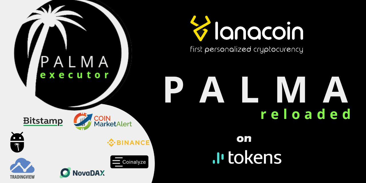 PALMABOT announced support and partnership with LanaCoin on tokens.net